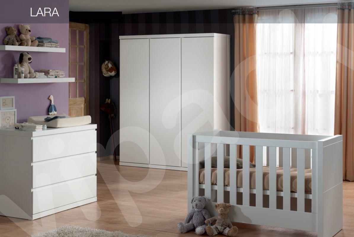 babyzimmer set lara babybett wickelkommode weiß kids / teens baby