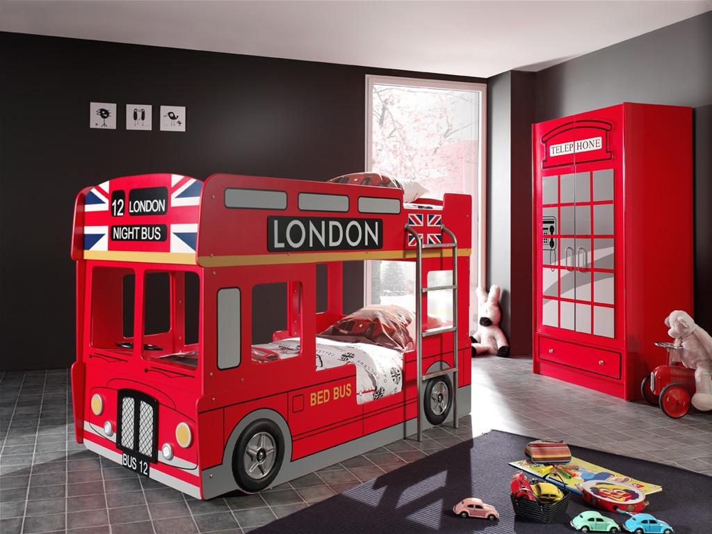 Etagenbett Autobett : Etagenbett london stockbett kinderbett autobett hochbett bett rot