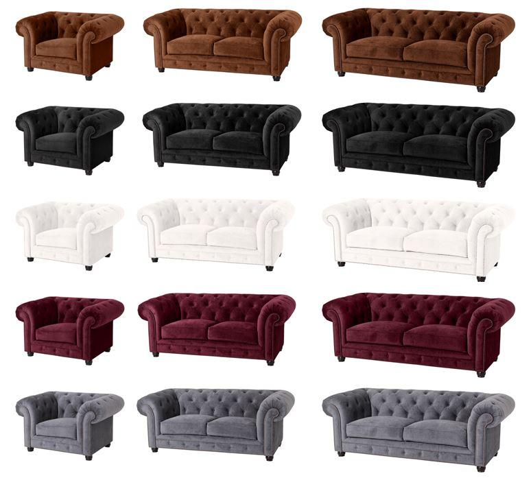 salford einzelsessel chesterfield sessel einzelsofa samtvelours grau ebay. Black Bedroom Furniture Sets. Home Design Ideas