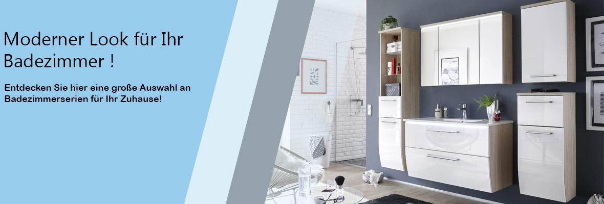Badezimmer, Komplettsets, Waschbeckenunterschrank, Spiegel ...