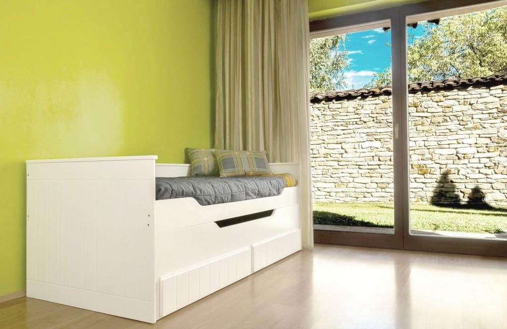multifunktionsbett ronny kinderbett kinderzimmer bett wei. Black Bedroom Furniture Sets. Home Design Ideas