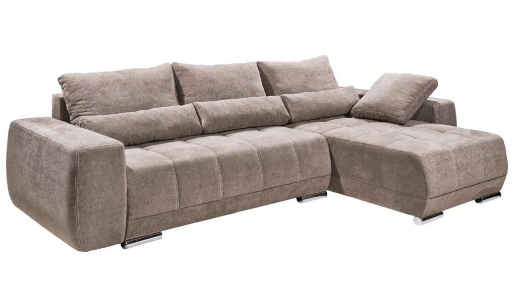Lopez ecksofa mit schlaffunktion couch schlafsofa sofa for Schlafsofa taupe