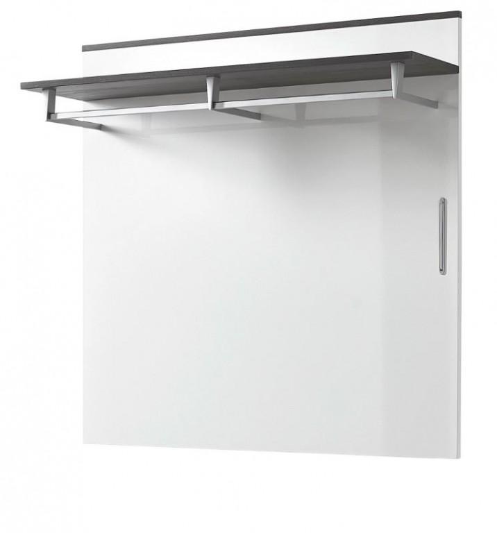 kingston garderobenpaneel paneel wandgarderobe wandpaneel wei grau ebay. Black Bedroom Furniture Sets. Home Design Ideas