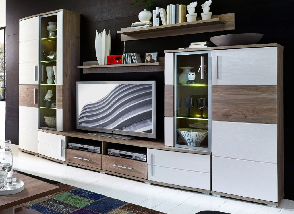 jam wohnkombination wohnzimmerset wohnl sung tv set wohnwand sch ner wohnen wohnw nde. Black Bedroom Furniture Sets. Home Design Ideas
