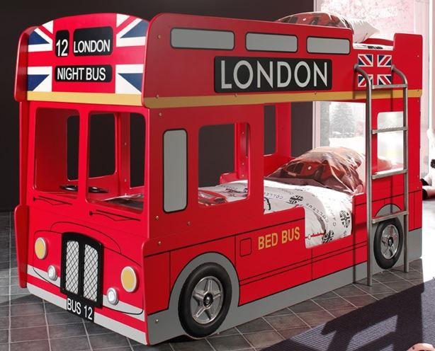Etagenbett london stockbett kinderbett autobett hochbett - Kinderbett bus ...