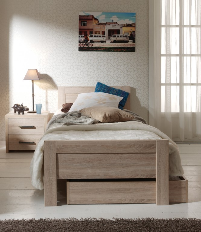 kinderbett aline jugendbett bett jugendzimmer eiche sonoma kids teens betten jugendbetten. Black Bedroom Furniture Sets. Home Design Ideas