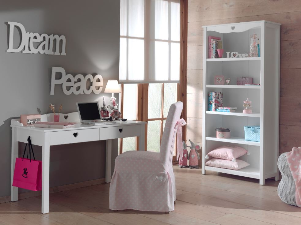 schreibtisch amori kinderschreibtisch tisch jugendzimmer wei kids teens schreibtische. Black Bedroom Furniture Sets. Home Design Ideas