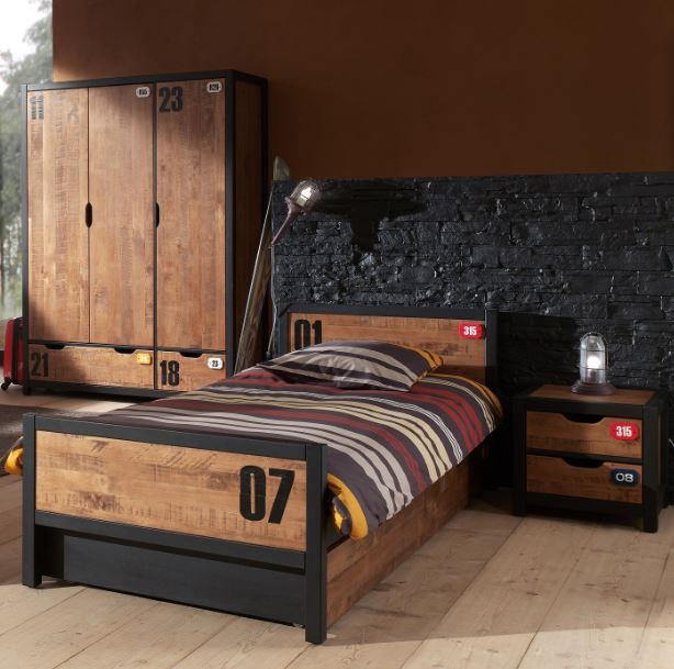 kinderzimmer set alex bett kinderbett schrank komplettset kiefer kids teens komplettsets. Black Bedroom Furniture Sets. Home Design Ideas