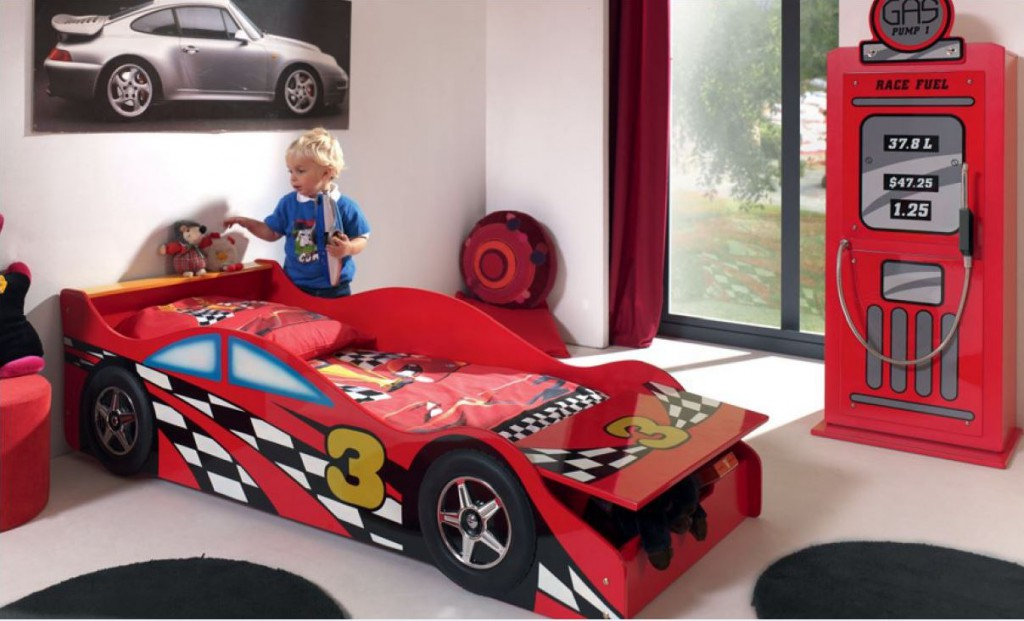Kinderzimmer set race car komplettset jugendzimmer rot for Cars kinderzimmer
