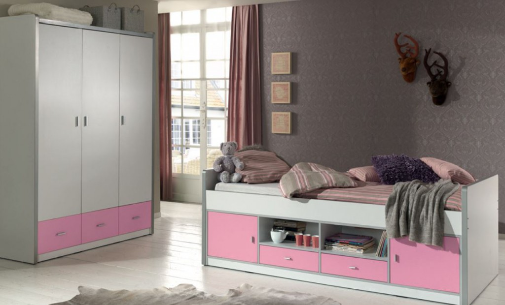 kinderzimmer bonny kojenbett mit kleiderschrank kinderbett. Black Bedroom Furniture Sets. Home Design Ideas