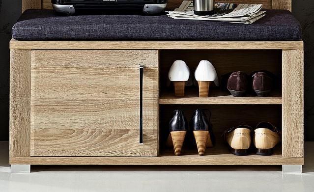 go sitzbank garderobenbank schuhbank eiche sonoma diele flur schuhbank. Black Bedroom Furniture Sets. Home Design Ideas