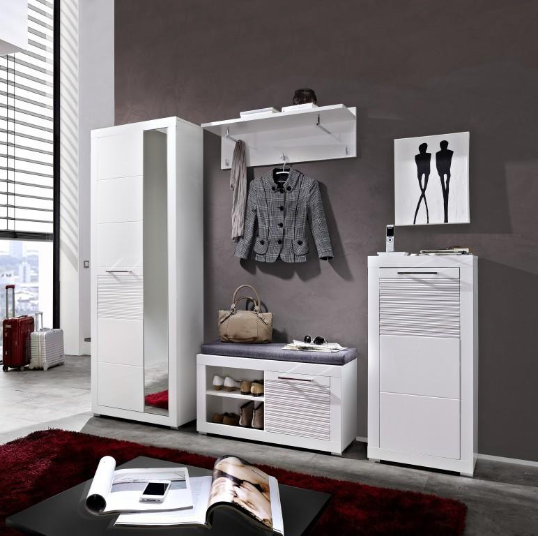 Life schuhschrank schuhe garderobe wei hochglanz diele for Schuhe garderobe
