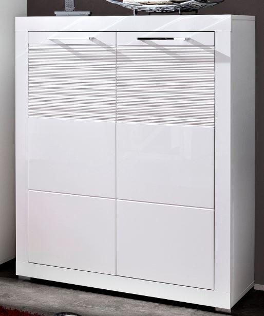 Life schuhschrank schuhe garderobe wei hochglanz diele for Garderobenschrank mit schuhschrank
