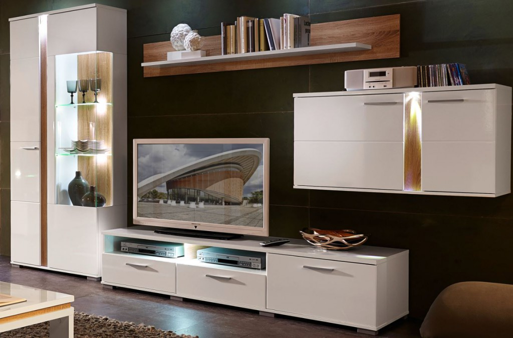 spot wohnkombination tv kombination wohnwand wohnzimmer set sch ner wohnen wohnw nde. Black Bedroom Furniture Sets. Home Design Ideas
