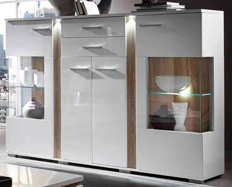 vitrine wohnzimmer:Spot Highboard Anrichte Kommode Wohnzimmer Vitrine Schöner Wohnen