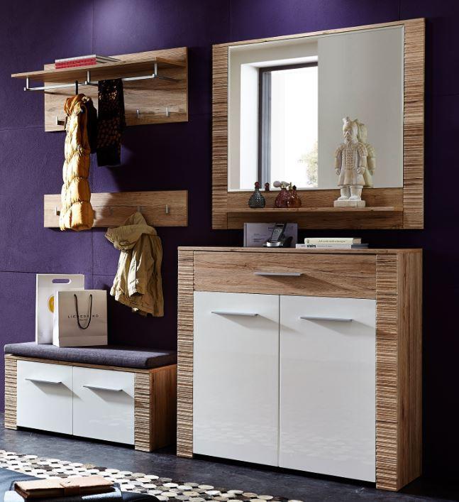 contest x garderoben kombination san remo eiche hell dekor garderobenset gardero ebay. Black Bedroom Furniture Sets. Home Design Ideas