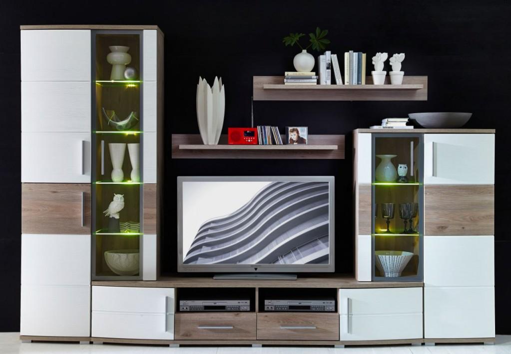 jam wohnzimmer komplettset wohnzimmerkombination wohnwand wohnset tv kombination sch ner wohnen. Black Bedroom Furniture Sets. Home Design Ideas