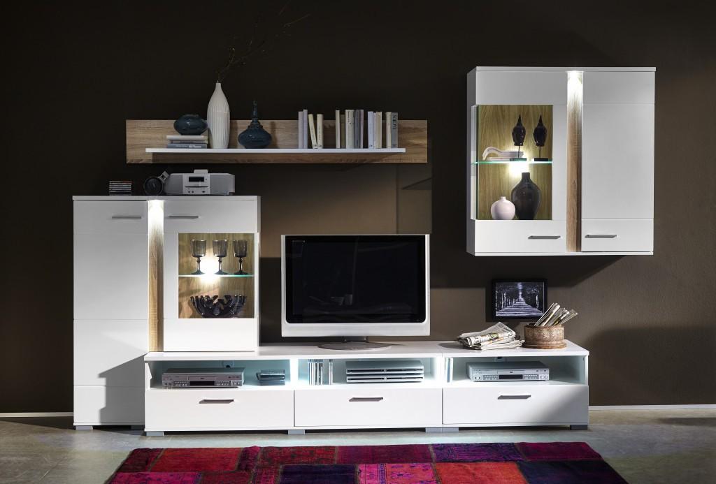 spot wohnzimmer komplettset wohnzimmerkombination wohnwand. Black Bedroom Furniture Sets. Home Design Ideas