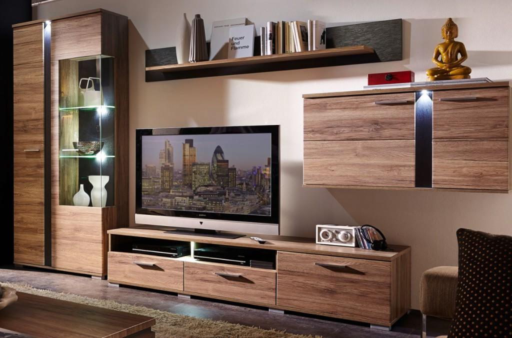 Spot wohnkombination tv kombination wohnwand wohnzimmer for Wohnzimmer set