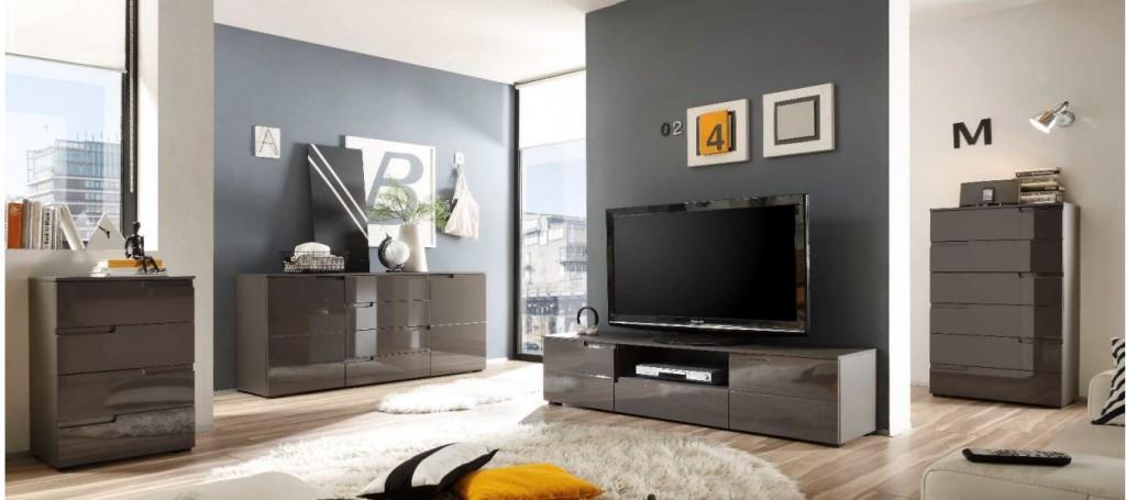 spice tv m bel lowboard sideboard hochglanz lava sch ner. Black Bedroom Furniture Sets. Home Design Ideas