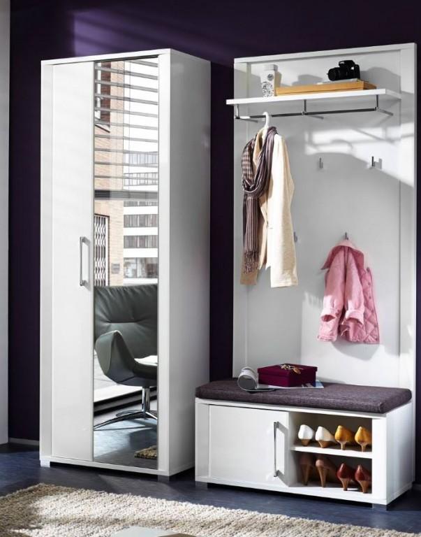 3 tlg go garderobenkombination garderobe garderobeset. Black Bedroom Furniture Sets. Home Design Ideas
