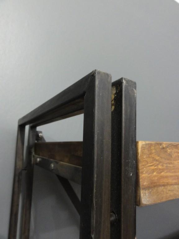 panama regal schrank b ro esszimmer holz metall ebay. Black Bedroom Furniture Sets. Home Design Ideas