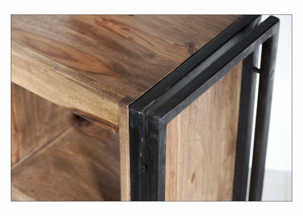 panama kommode sideboard nachttisch wohnzimmer holz metall. Black Bedroom Furniture Sets. Home Design Ideas
