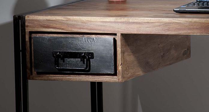 panama schreibtisch telefontisch b ro wohnzimmer holz metall ebay. Black Bedroom Furniture Sets. Home Design Ideas