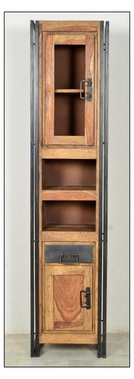 panama hochschrank regal schrank bad holz metall ebay. Black Bedroom Furniture Sets. Home Design Ideas