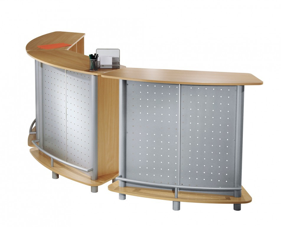 Expo counter messetresen infostand theke thekenanlage for Kompaktgarderobe buche