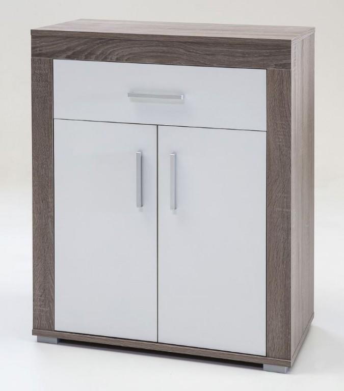 lake schuhschrank kommode anrichte schrank schuhe eiche tr ffel wei ebay. Black Bedroom Furniture Sets. Home Design Ideas