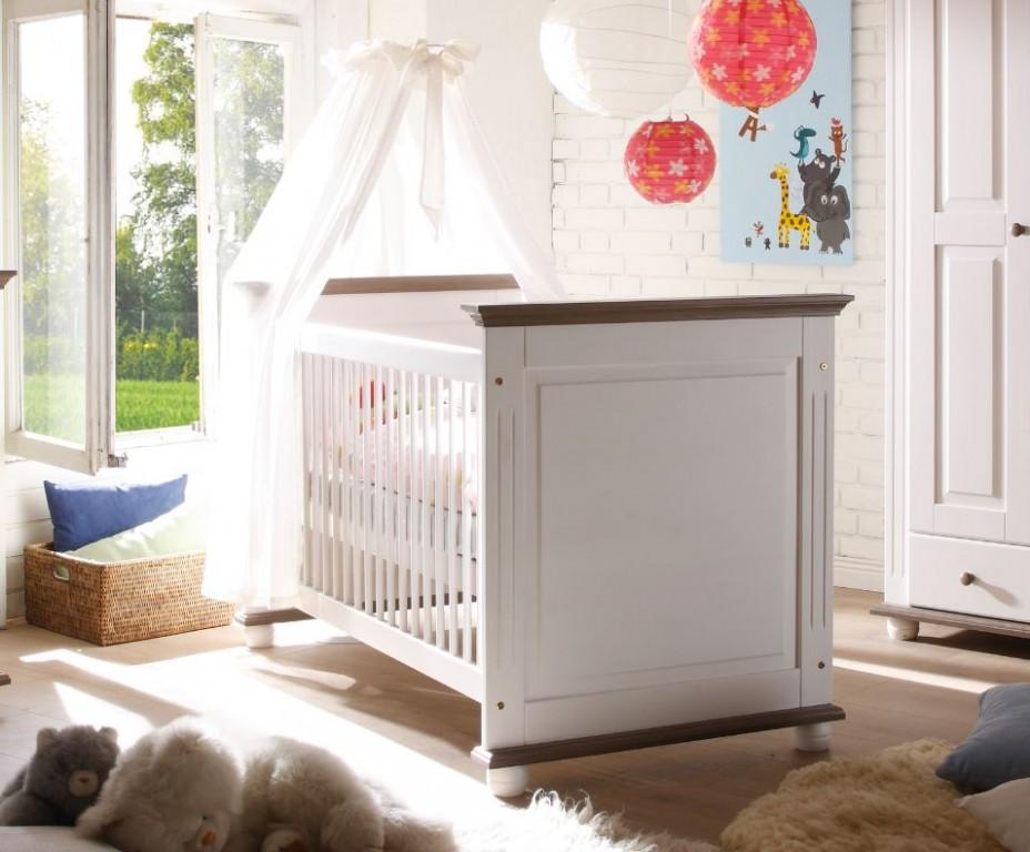 babybett 70x140 bett baby babym bel kinderbett massiv wei kids teens baby babybetten. Black Bedroom Furniture Sets. Home Design Ideas