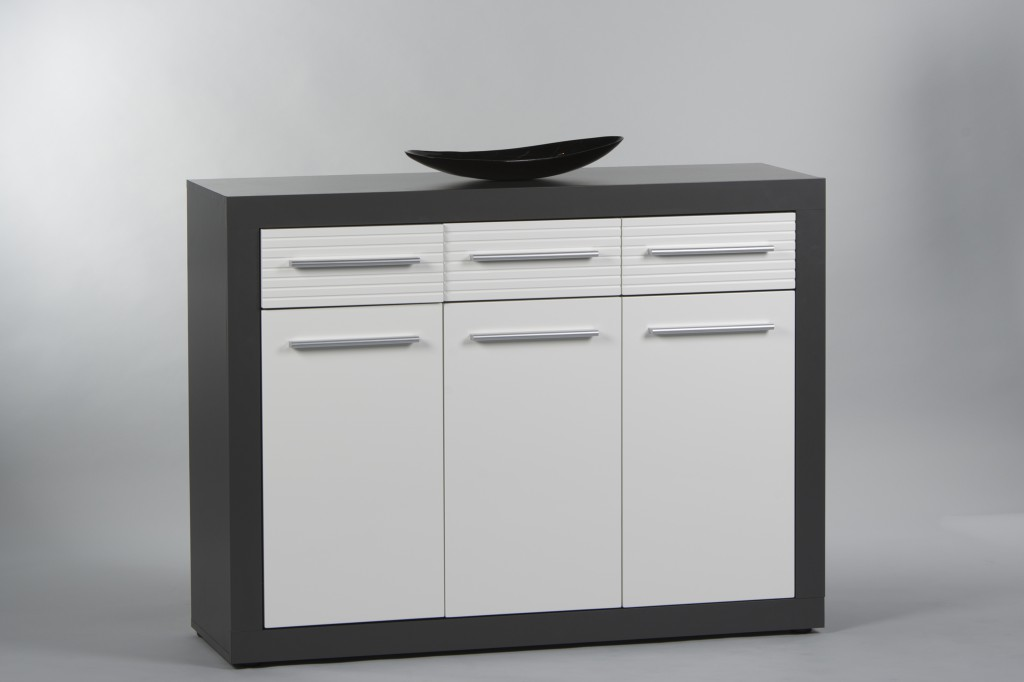 kolibri sideboard kommode anrichte grau wei sch ner. Black Bedroom Furniture Sets. Home Design Ideas