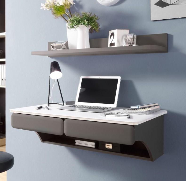 Desk schreibtisch h ngend wandboard tisch wei grau b ro schreibtische b rotische - Schreibtisch klappbar wand ...