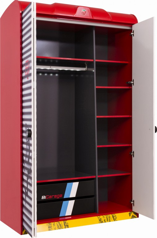 cilek champion racer kleiderschrank kinderkleiderschrank. Black Bedroom Furniture Sets. Home Design Ideas