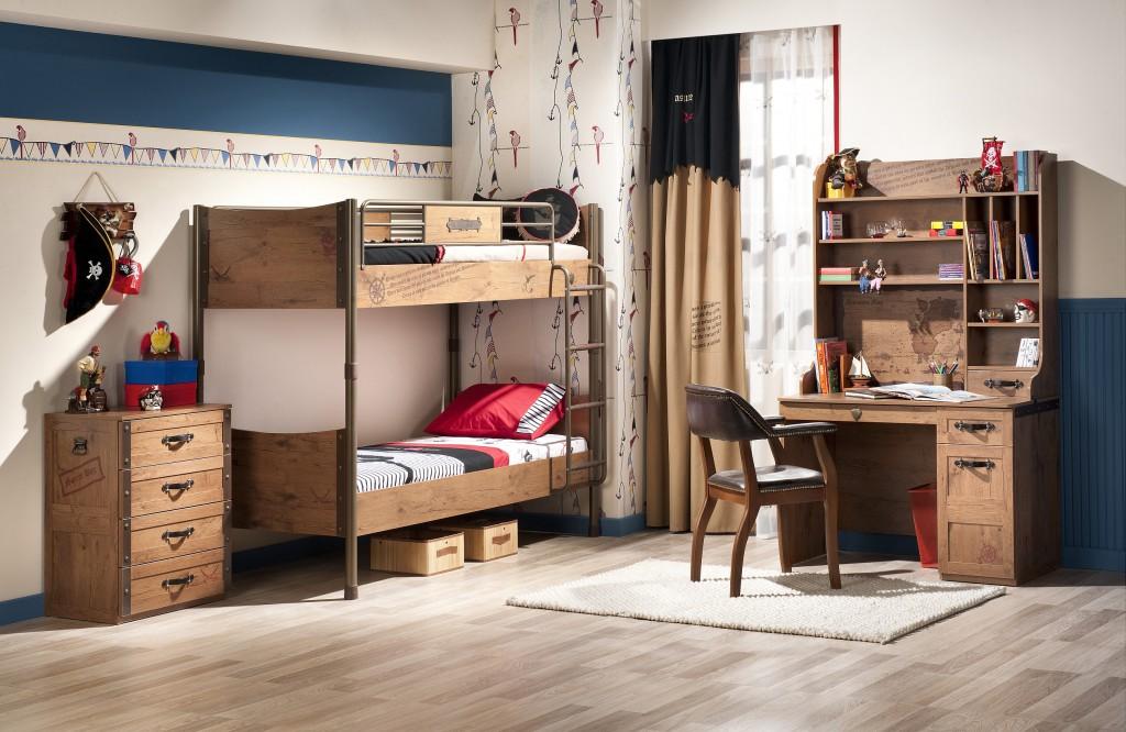Cilek black pirate kinderzimmer set komplettset hochbett schlafzimmer spielzimmer braun kids for Kinderzimmer komplettset