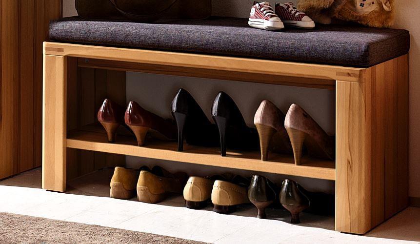 nature plus schuhbank bank garderobe kernbuche diele flur schuhbank. Black Bedroom Furniture Sets. Home Design Ideas