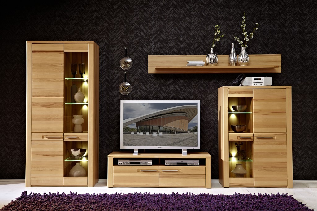 nature plus tv m bel lowboard sideboard anrichte kernbuche sch ner wohnen tv m bel. Black Bedroom Furniture Sets. Home Design Ideas