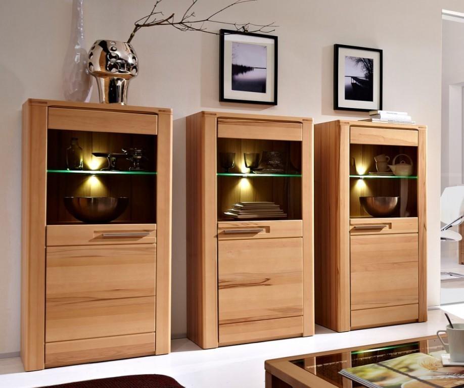 3x nature plus sideboard schrankwand wohnzimmerkombination wohnwand vitrine sch ner wohnen. Black Bedroom Furniture Sets. Home Design Ideas