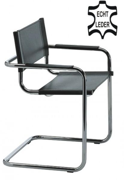 2x delta freischwinger schwarz klassiker besucherstuhl echt leder schwarz b ro st hle besucher. Black Bedroom Furniture Sets. Home Design Ideas