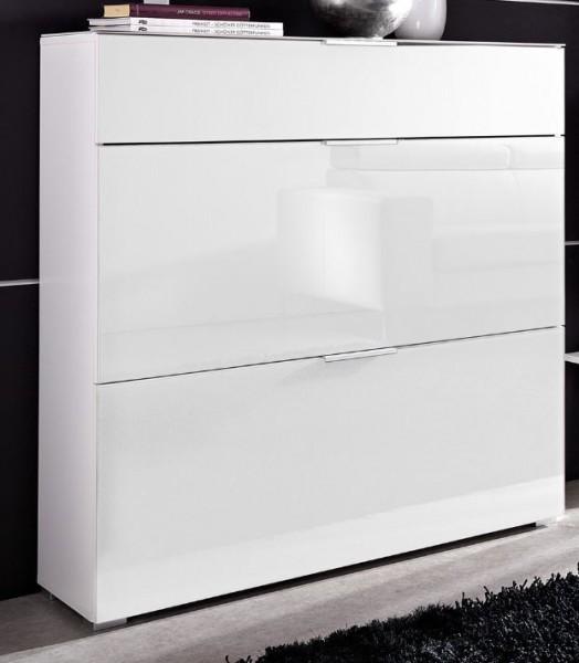 schuhschrank veronika schuhregal schrank schuhe kommode glasfront wei ebay. Black Bedroom Furniture Sets. Home Design Ideas