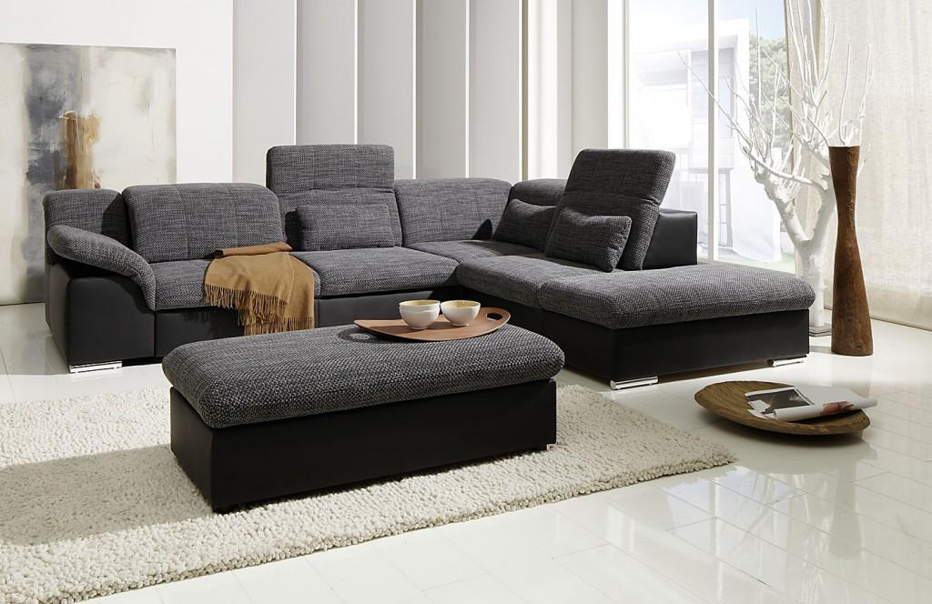 Arizona ecksofa eckgarnitur couch sofa lederoptik eckcouch for Wohnlandschaft lederoptik