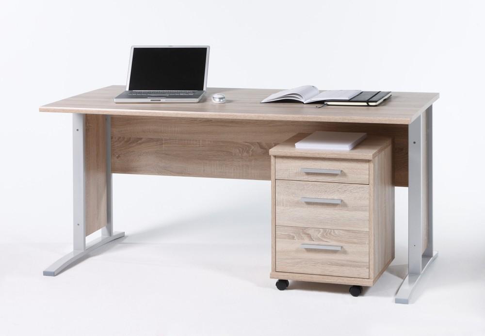 schreibtisch office line mit rollcontainer eiche sonoma b ro schreibtische b rotisch mit. Black Bedroom Furniture Sets. Home Design Ideas
