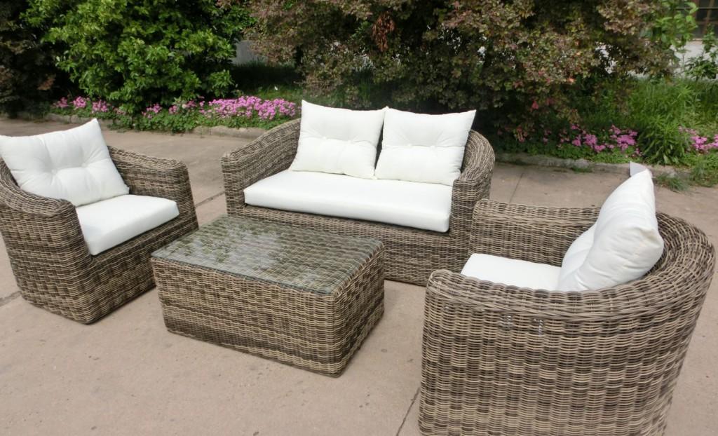 Willhaben Gartenmobel Ikea : tlg Garnitur Polyrattan Cremona graubraun meliert Gartenmöbel