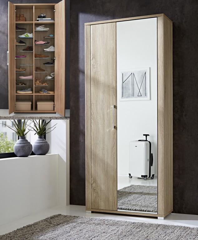 fine garderobenschrank schuhschrank garderobe. Black Bedroom Furniture Sets. Home Design Ideas
