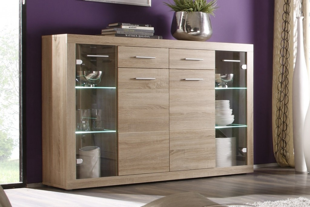 highboard can can highboard anrichte sonoma eiche sch ner wohnen sideboards highboards highboards. Black Bedroom Furniture Sets. Home Design Ideas