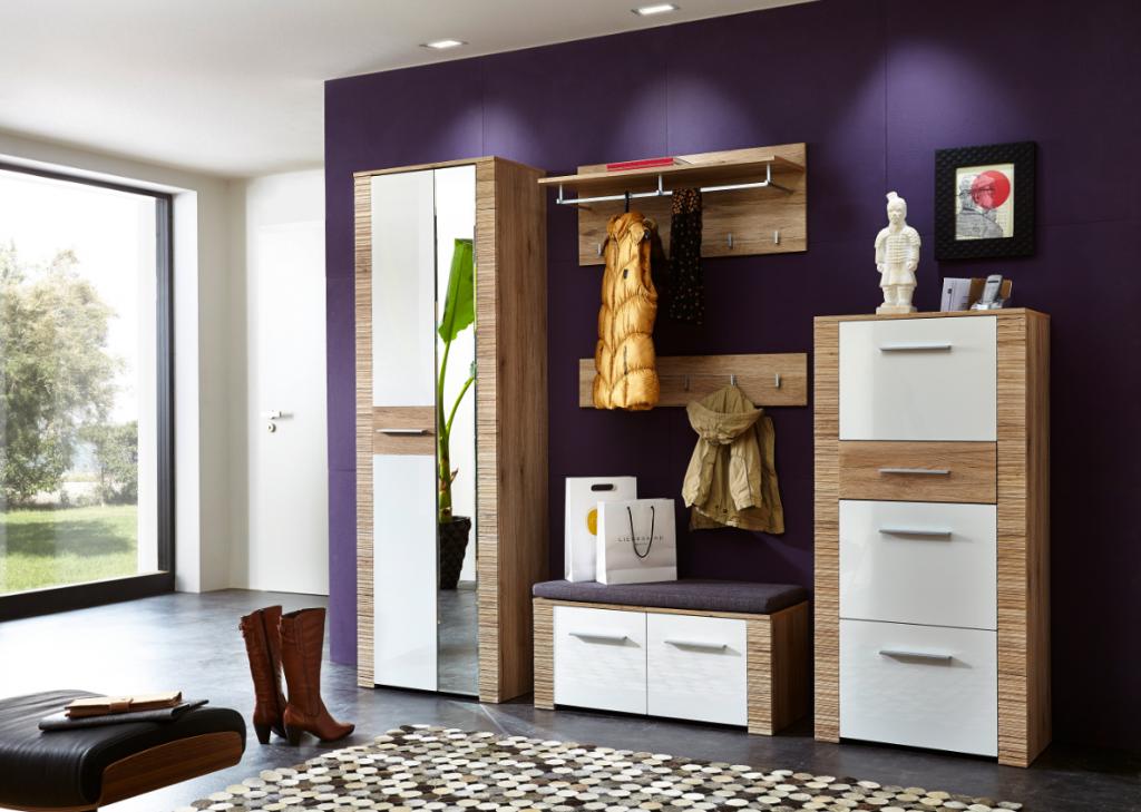 contest x garderobenpaneel san remo eiche hell dekor garderobenhaken wandgarderobe diele flur. Black Bedroom Furniture Sets. Home Design Ideas