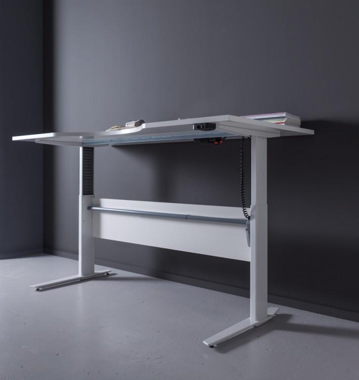 prima schreibtisch h henverstellbar 180x80cm stehtisch b rotisch wei b ro schreibtische steh. Black Bedroom Furniture Sets. Home Design Ideas