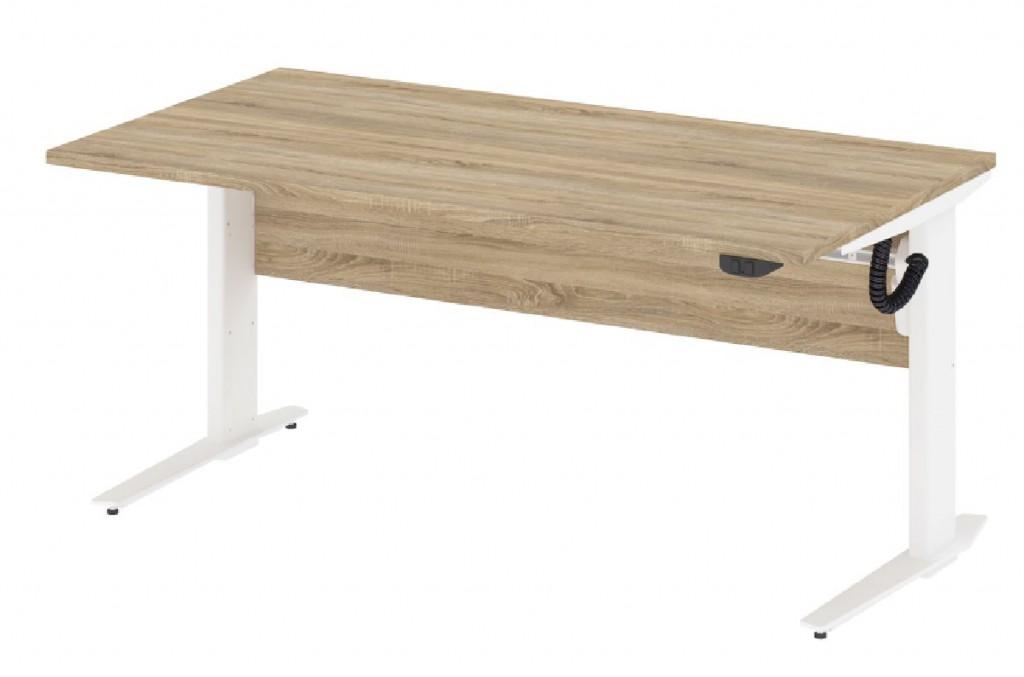 prima schreibtisch h henverstellbar 150x80cm stehtisch b rotisch eiche struktur b ro. Black Bedroom Furniture Sets. Home Design Ideas