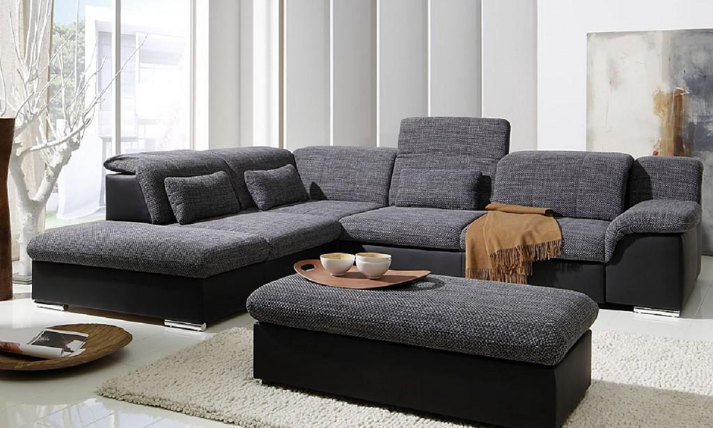Arizona ecksofa eckgarnitur couch sofa lederoptik eckcouch for Eckcouch schwarz